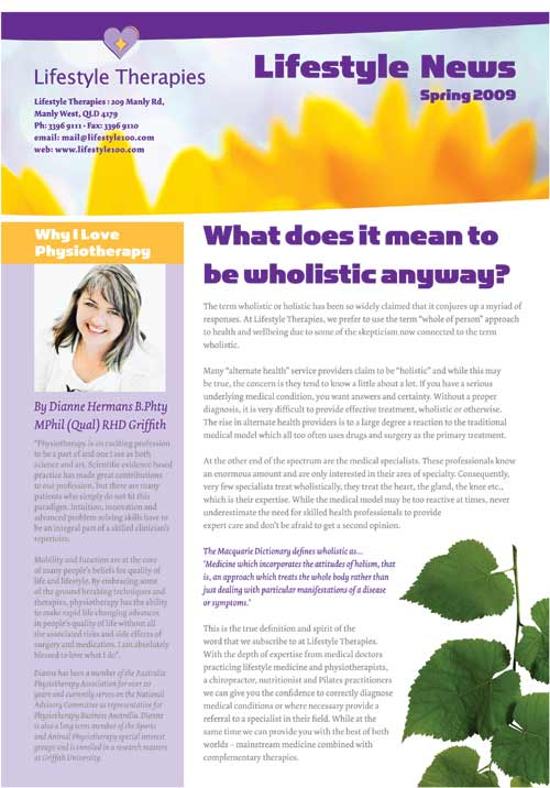 Lifestyle Therapies Spring Newsletter